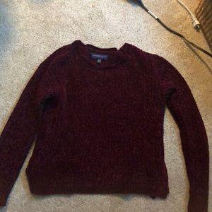 aeropostale burgundy sweater